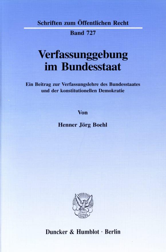 Cover Verfassunggebung im Bundesstaat