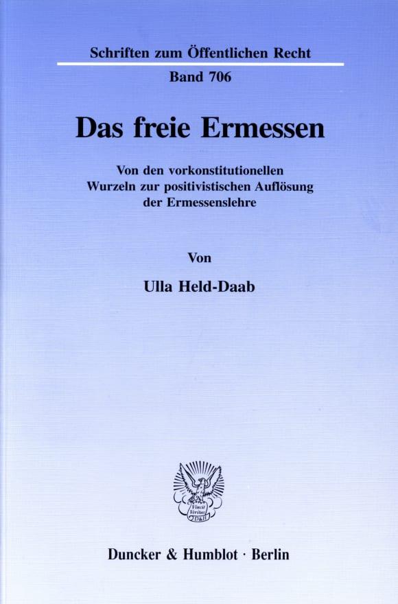 Cover Das freie Ermessen