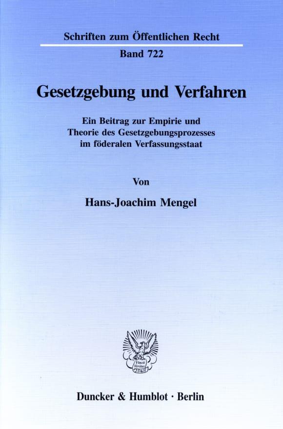 Cover Gesetzgebung und Verfahren