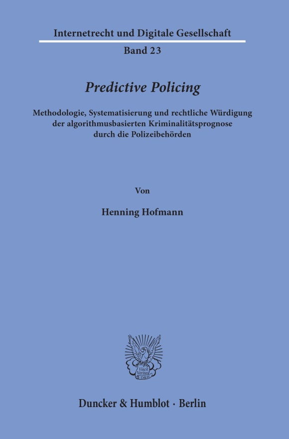 Cover Predictive Policing