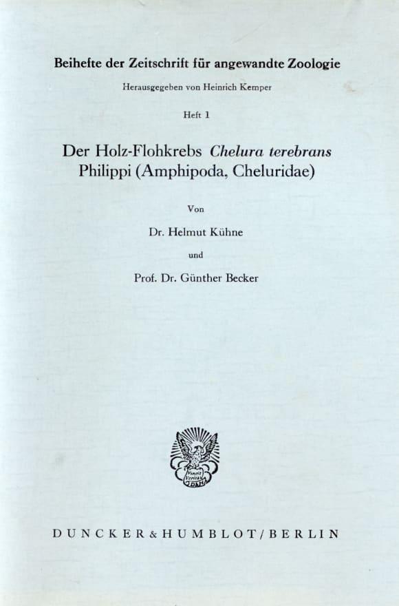 Cover Der Holz-Flohkrebs Chelura terebrans Philippi (Amphipoda, Cheluridae)