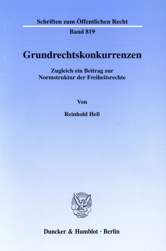 Cover Grundrechtskonkurrenzen