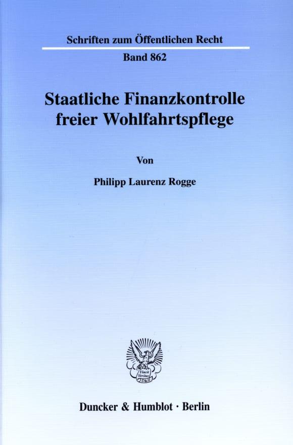 Cover Staatliche Finanzkontrolle freier Wohlfahrtspflege