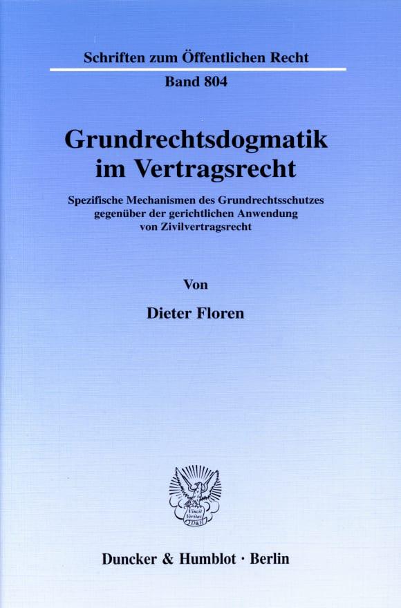 Cover Grundrechtsdogmatik im Vertragsrecht