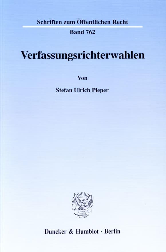 Cover Verfassungsrichterwahlen