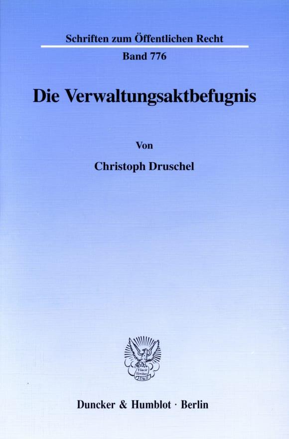 Cover Die Verwaltungsaktbefugnis