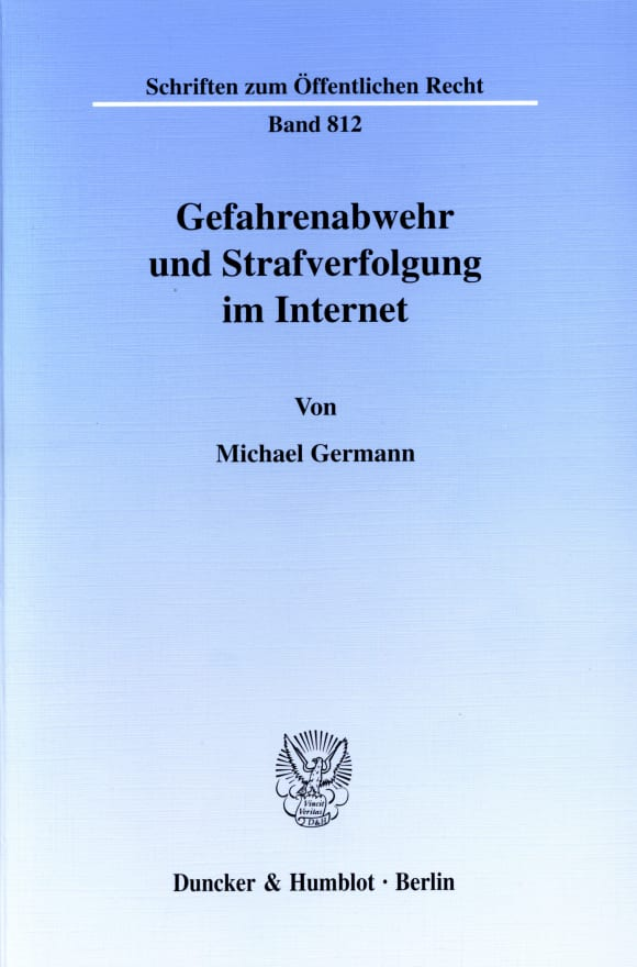 Cover Gefahrenabwehr und Strafverfolgung im Internet