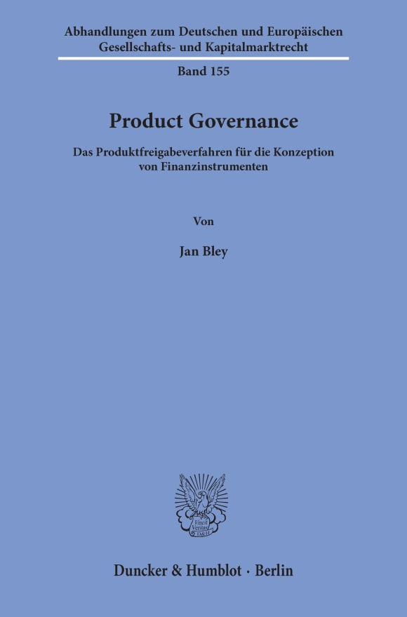 Cover Product Governance