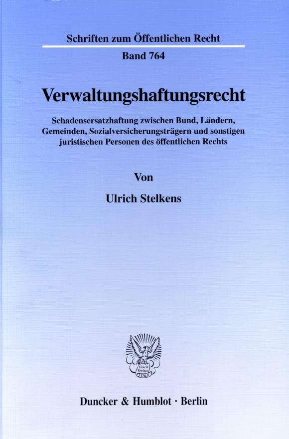 Cover Verwaltungshaftungsrecht
