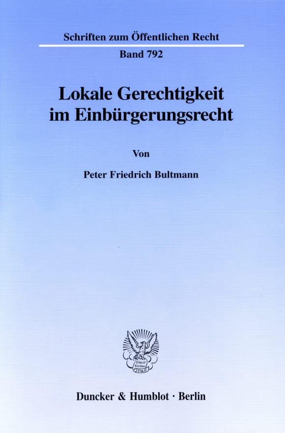 Cover Lokale Gerechtigkeit im Einbürgerungsrecht