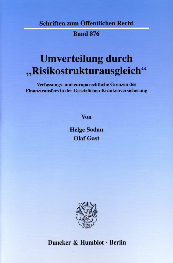 Cover Umverteilung durch