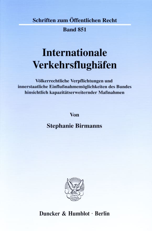 Cover Internationale Verkehrsflughäfen