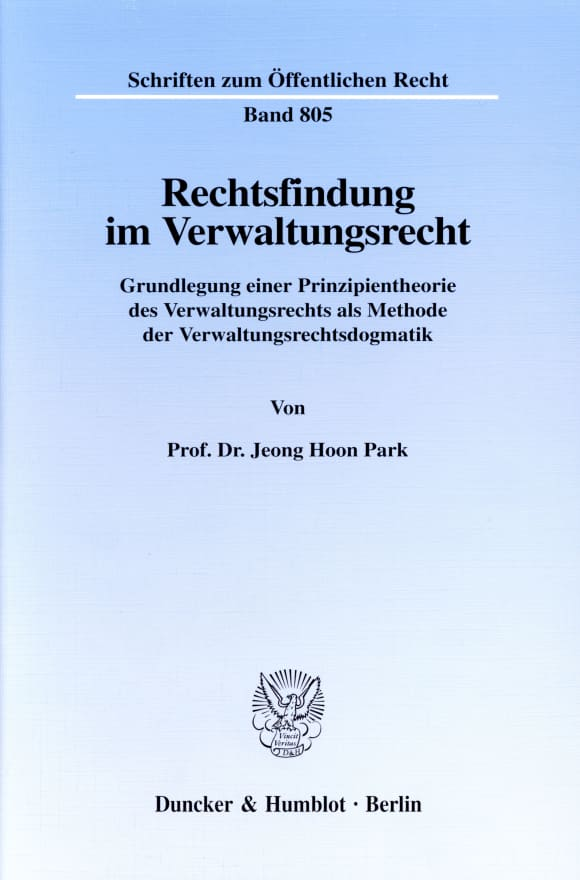 Cover Rechtsfindung im Verwaltungsrecht