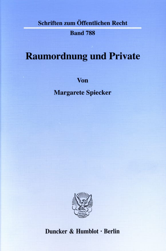 Cover Raumordnung und Private
