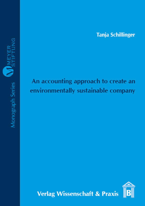 Cover An accounting approach to create an environmentally sustainable company