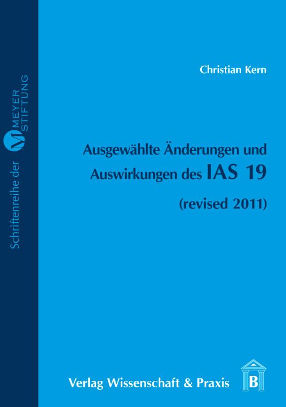 Cover Ausgewählte Änderungen und Auswirkungen des IAS 19