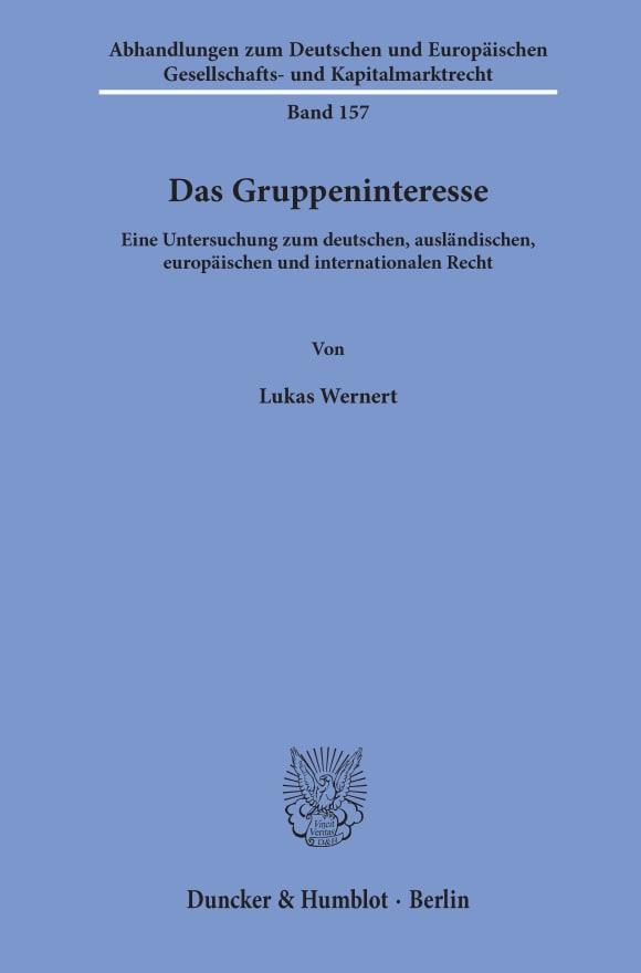 Cover Das Gruppeninteresse