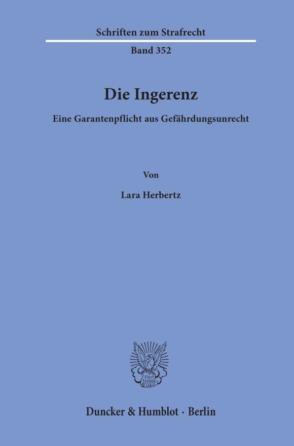 Cover Die Ingerenz