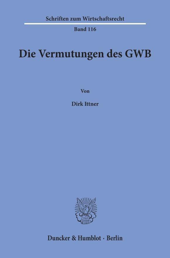Cover Die Vermutungen des GWB