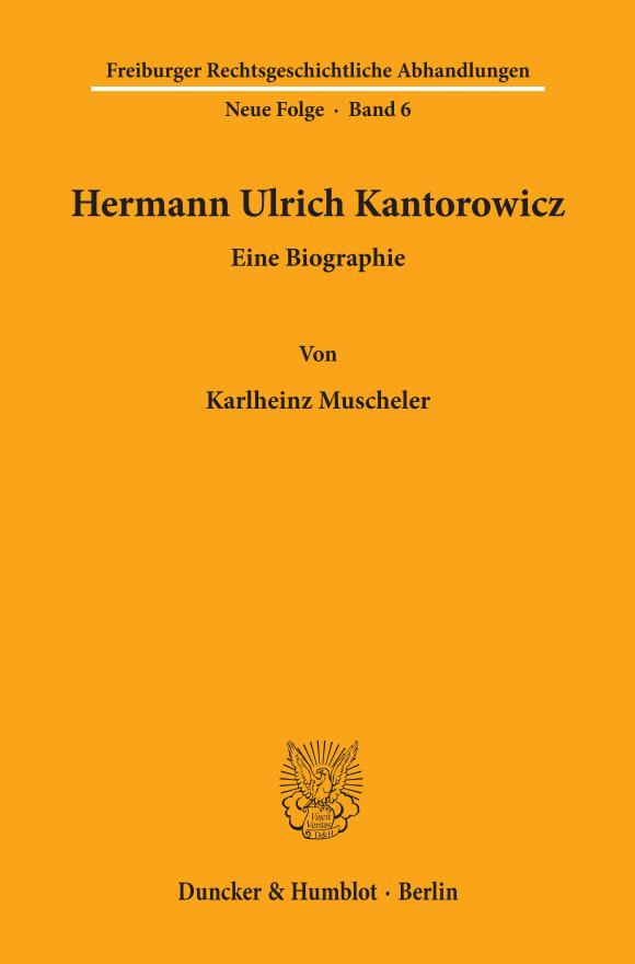 Cover Hermann Ulrich Kantorowicz
