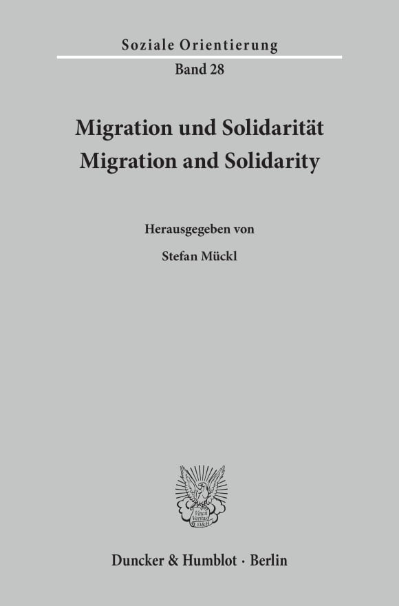 Cover Migration und Solidarität / Migration and Solidarity
