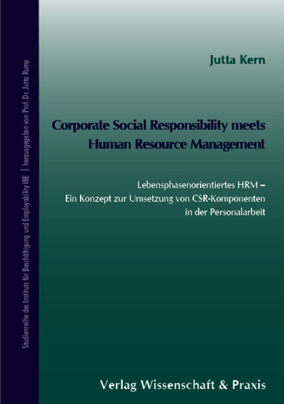 Cover Corporate Social Responsibility meets Human Resource Management