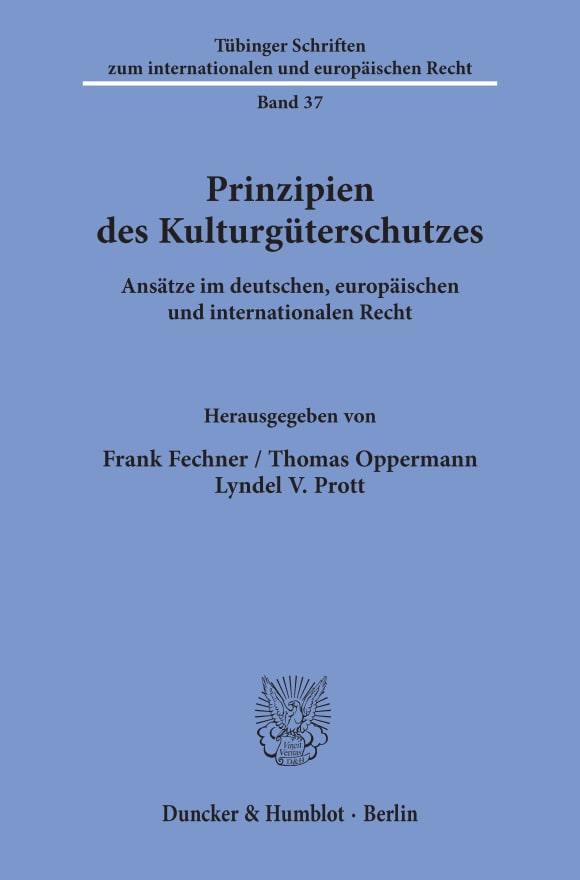 Cover Prinzipien des Kulturgüterschutzes