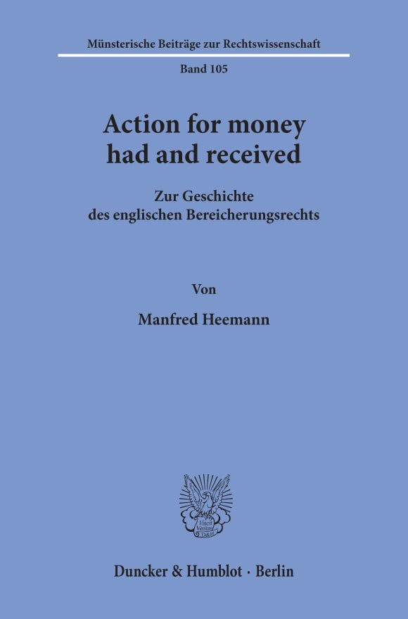 Cover Action for money had and received