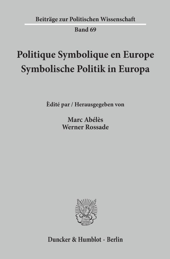 Cover Politique Symbolique en Europe / Symbolische Politik in Europa
