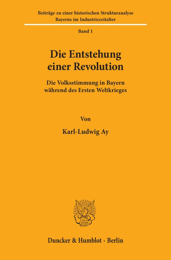 Cover Die Entstehung einer Revolution