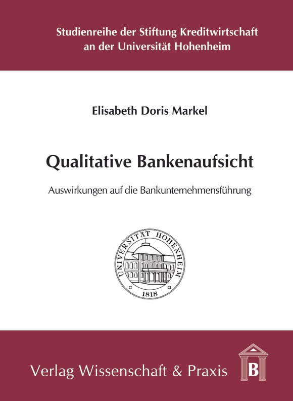 Cover Qualitative Bankenaufsicht
