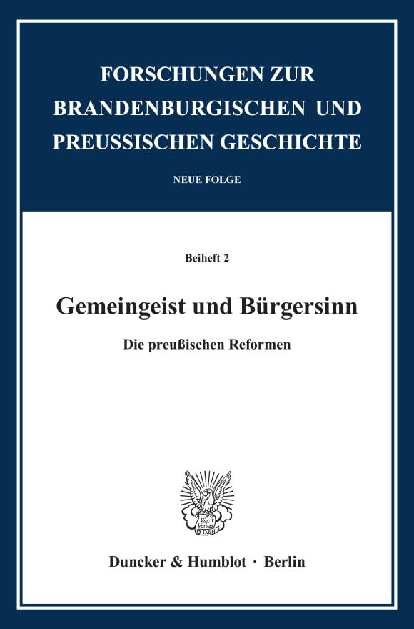 Cover Gemeingeist und Bürgersinn