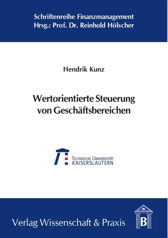 Cover Wertorientierte Steuerung von Geschäftsbereichen