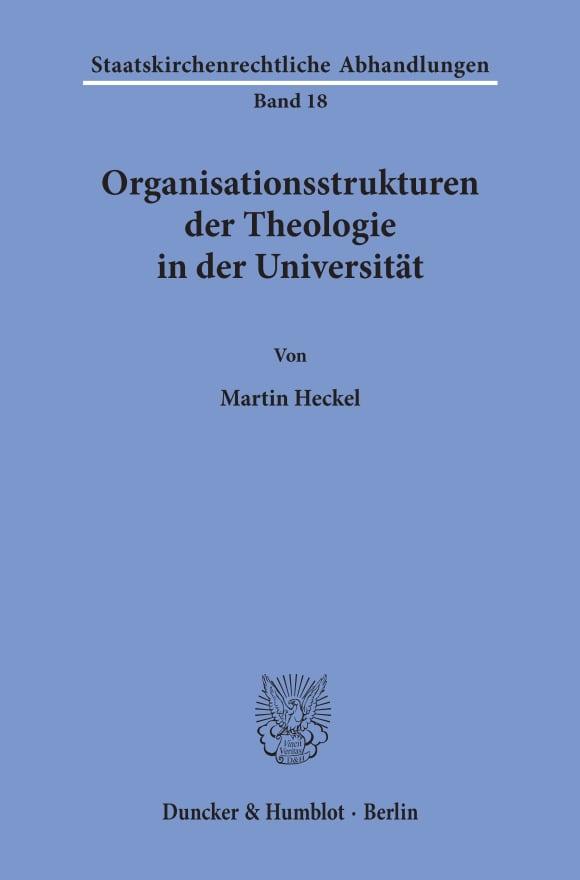 Cover Organisationsstrukturen der Theologie in der Universität