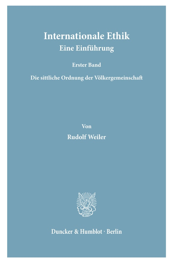Cover Internationale Ethik. Eine Einführung