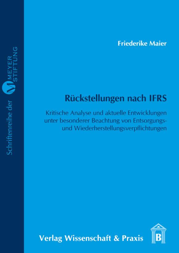 Cover Rückstellungen nach IFRS