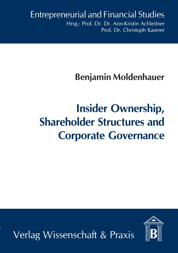 Cover Insider Ownership, Shareholder Structures and Corporate Governance