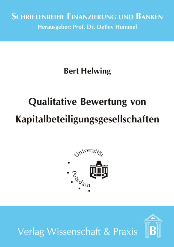 Cover Qualitative Bewertung von Kapitalbeteiligungsgesellschaften
