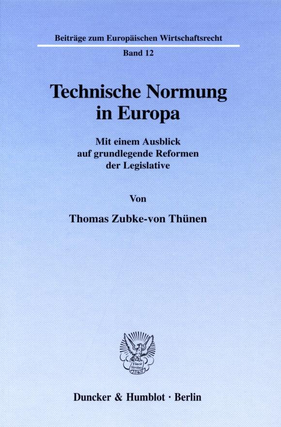 Cover Technische Normung in Europa