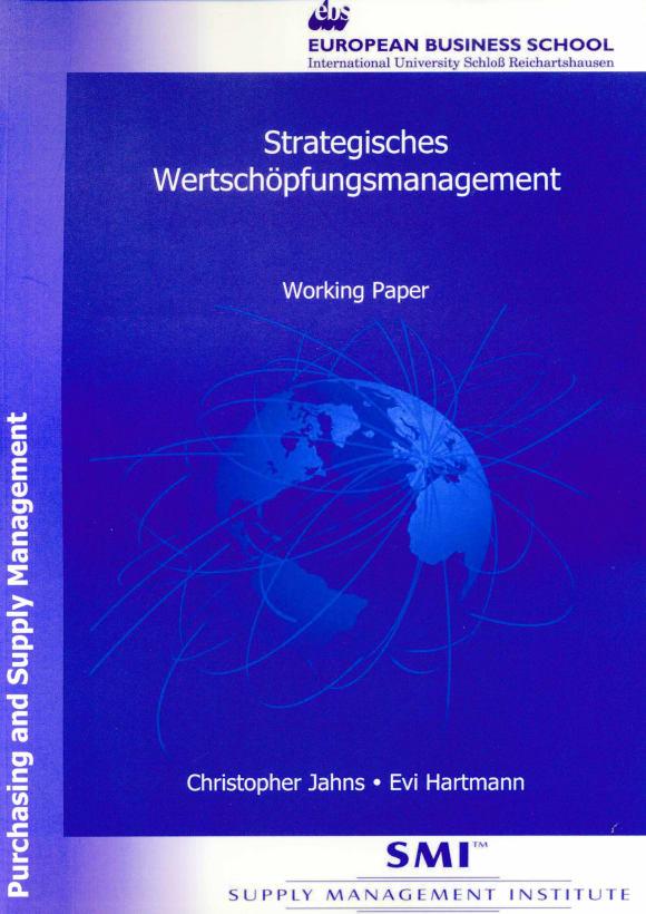 Cover Strategisches Wertschöpfungsmanagement