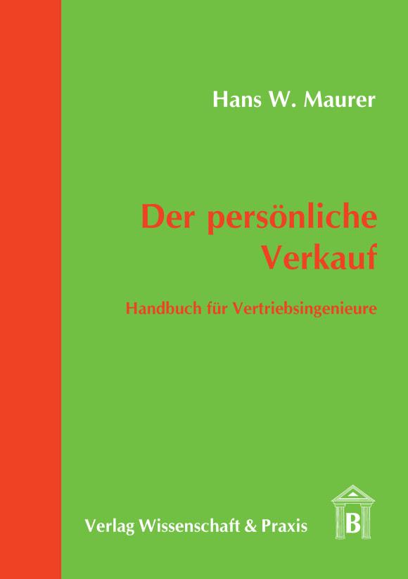 Cover Der persönliche Verkauf