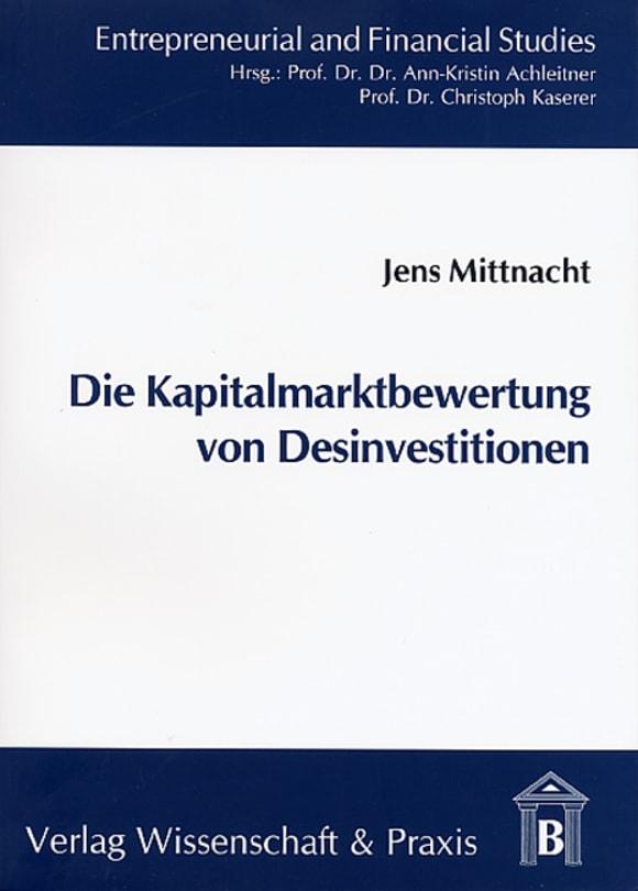 Cover Die Kapitalmarktbewertung von Desinvestitionen
