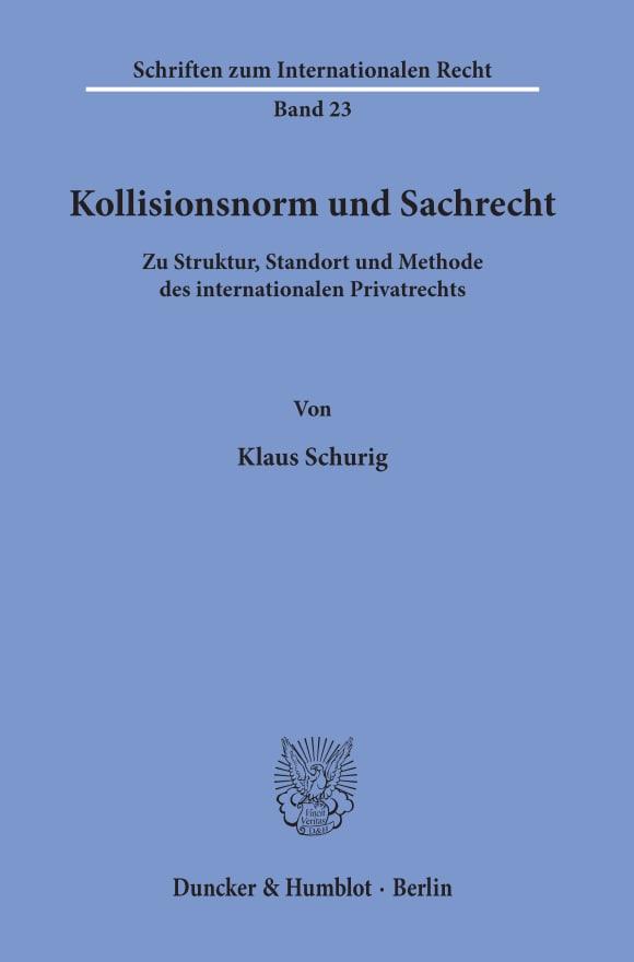 Cover Kollisionsnorm und Sachrecht