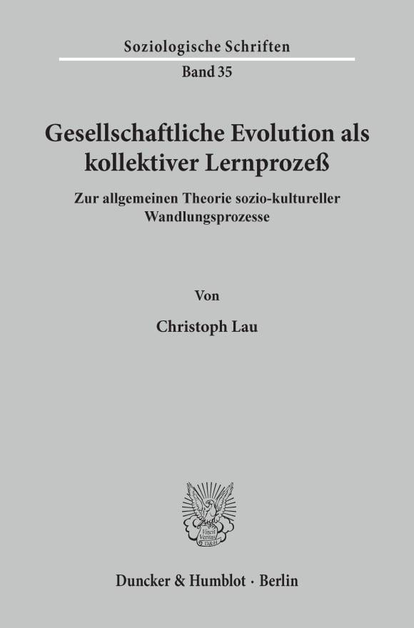 Cover Gesellschaftliche Evolution als kollektiver Lernprozeß