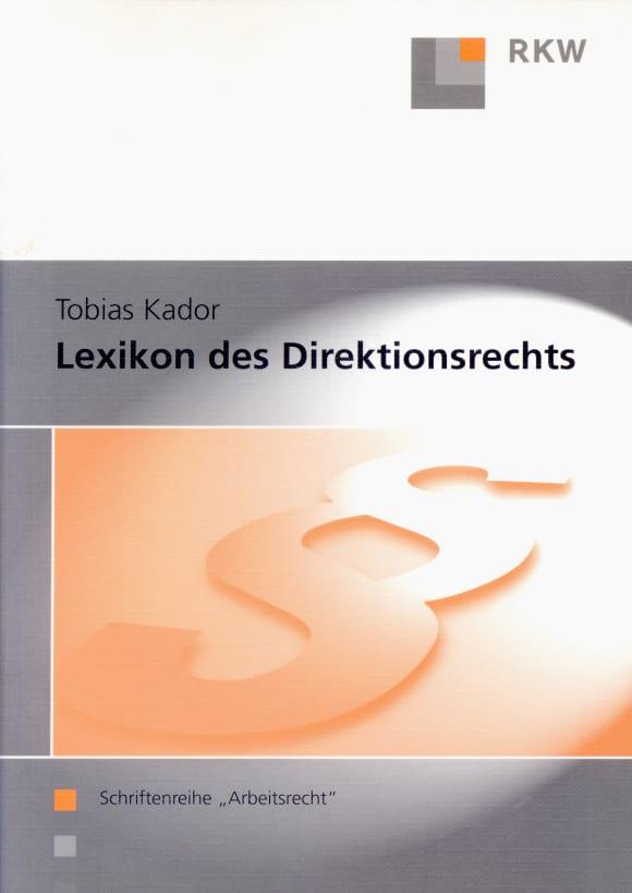 Cover Lexikon des Direktionsrechts