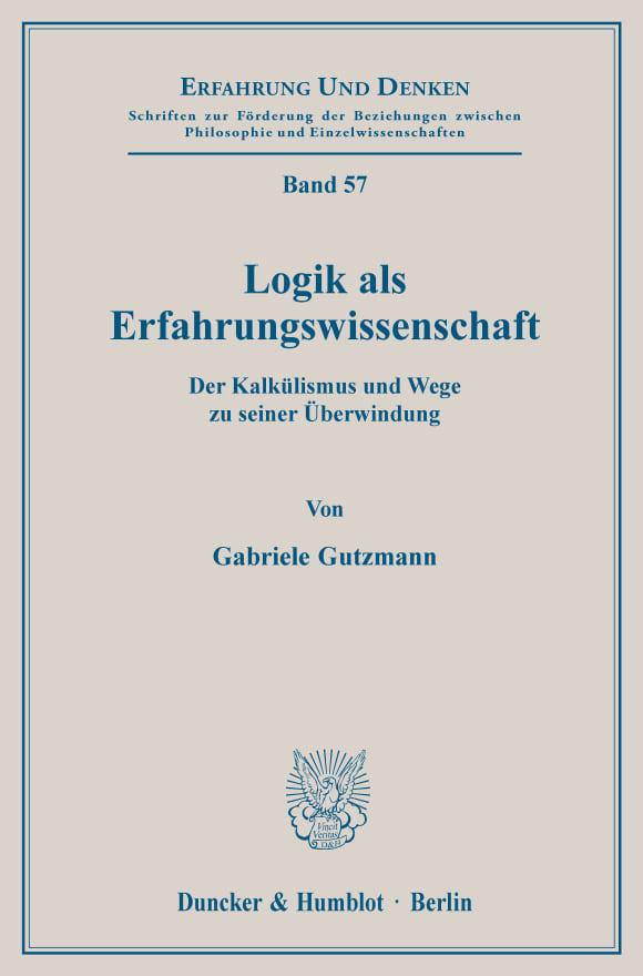 Cover Logik als Erfahrungswissenschaft