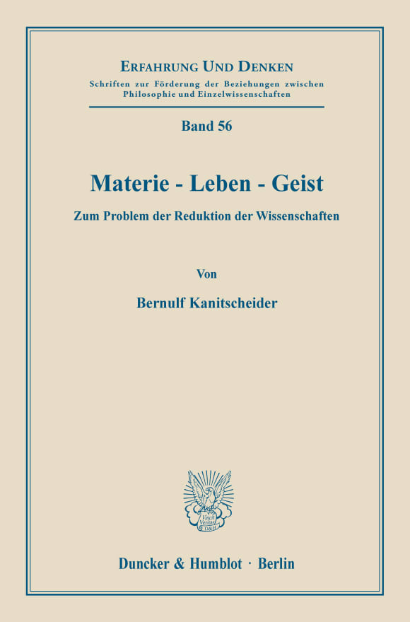 Cover Materie - Leben - Geist