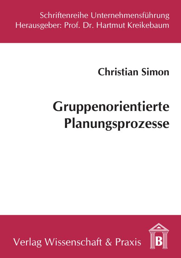Cover Gruppenorientierte Planungsprozesse