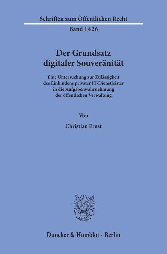Cover Der Grundsatz digitaler Souveränität
