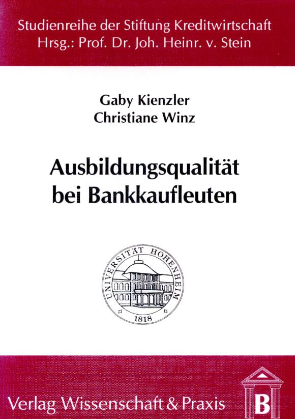 Cover Ausbildungsqualität bei Bankkaufleuten